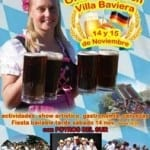 """Afiche promoviendo fiesta de cerveza en """"Villa Baviera"""""""